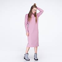 Платье - свитшот фрезовое с горловиной стоечкой, фото 1