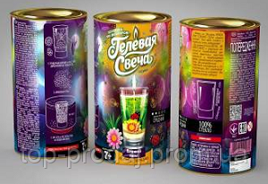 "Набор ""Гелевая свеча"" в тубе арт. gl 15-57, набор для творчества, развивающая игра"