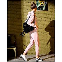 Рюкзак женский велюровый Adel Leopard черный eps-8061, фото 3