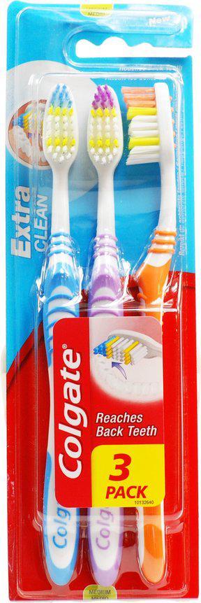 Зубна щітка Colgate Extra Clean упаковка 3 шт