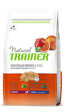 Корм Trainer (Трейнер) NATURAL Adult MEDIUM Con Pollo Fresco для дорослих собак середніх порід з куркою, 3 кг