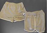 Шорты женские спортивные трикотажные окантовка. Серые. Мод. 234., фото 3