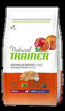 Корм Trainer (Трейнер) NATURAL Adult MEDIUM Con Pollo Fresco для дорослих собак середніх порід з куркою, 12 кг