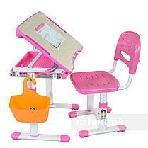 Детская парта растишка и стульчик FunDesk Bambino Pink, фото 3