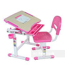 Детская парта растишка и стульчик FunDesk Bambino Pink, фото 2