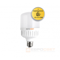 Высокомощная LED лампа Евросвет EVRO-PL-40-6400-40 40W 6400K E40 220V