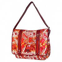 Молодежная сумка красного цвета с отделом для ноутбука  Daniel Ray арт. 42,582604