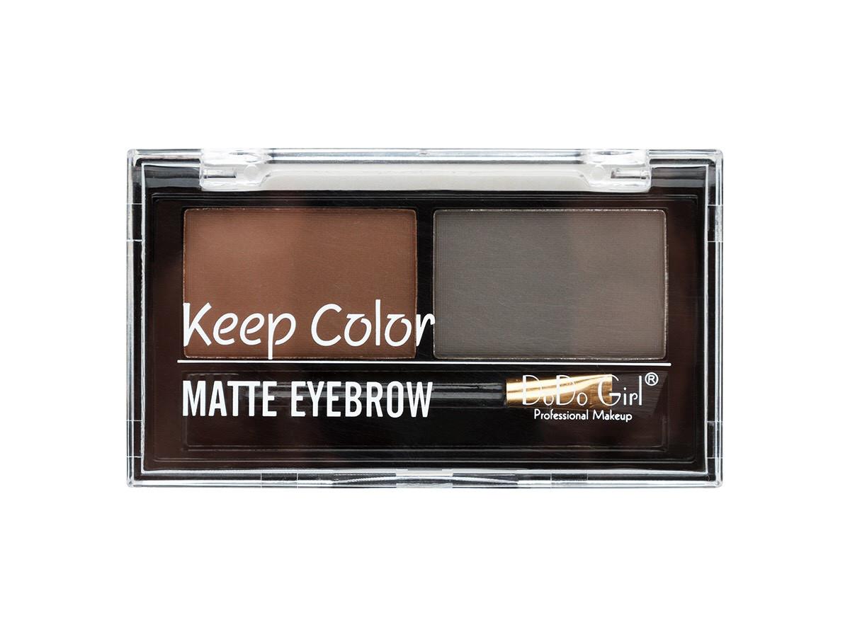 Тіні Keep Color eyebrow ДЛЯ БРІВ ( 2 кол-прозора кришка )(Палітра: А № 1.2.3) 008BP