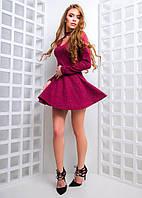 Ангоровое платье с расклешенной юбкой и вырезом-каплей 97771