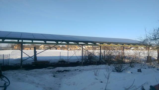Сетевая солнечная электростанция 30 кВт, Львовская область . -1