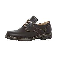 Ботинки кожаные коричневые для охотников МТШ-2м