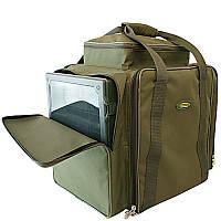 Рыбацкая сумка карповая (2 коробки, 8 катушек и аксессуары) Акрополис РСК-2