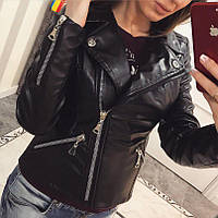 Куртка женская косуха черная ЕЕ/-635