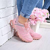 Кроссовки женские под Nike розовые 4295, спортивная обувь