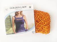Женская майка-сетка на широких бретелях Golden Lady, цвет оранжевый