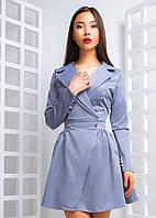 Платье-пиджак двубортное с юбкой - солнце 97774