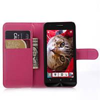 Чехол Asus Zenfone C / ZC451CG книжка PU-Кожа розовый