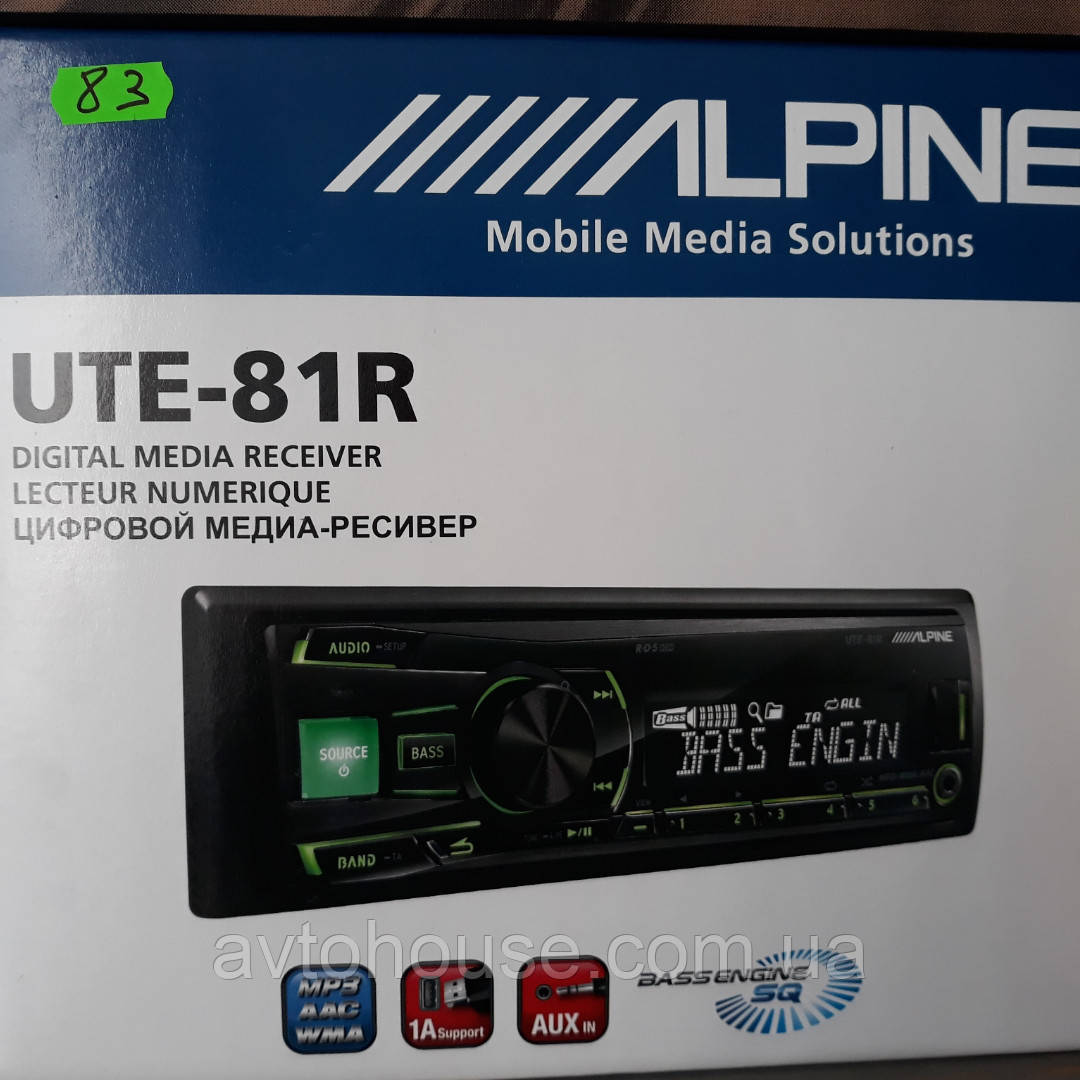 Автомагнитола ALPINE UTE-81R