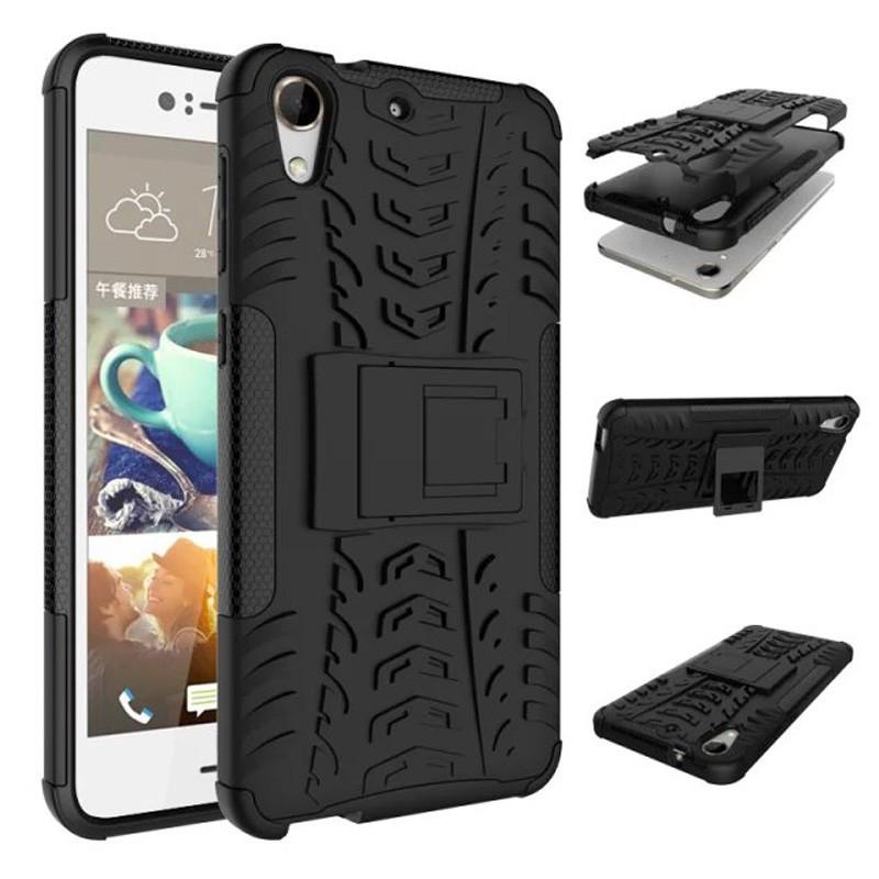 Чехол HTC Desire 728 противоударный бампер черный