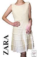 Женское летнее платье Zara молочное без рукавов р. М 46-48