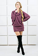 Женское платье-туника летучая мышь Шерли / размер 44-54 / цвет бордо