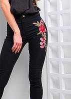 Женские джинсы с цветами на бедре 532212