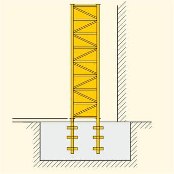 Анкерное крепление башенного крана Liebherr, оригинальное, фото 2