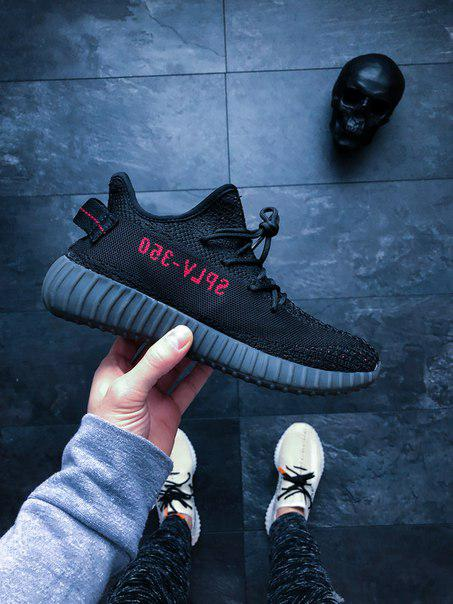 Мужские кроссовки Adidas Yeezy Boost 350 V2 Bred Red Black топ реплика -  Интернет-магазин acabee92164