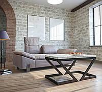 Стіл журнальний в стилі Лофт у вітальню Зетт Метал-Дизайн