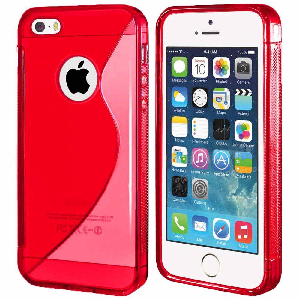 Чехол Iphone 5 / 5S / SE силикон TPU S-LINE красный
