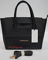 Женская сумка из эко кожи с перекидным клапаном черная