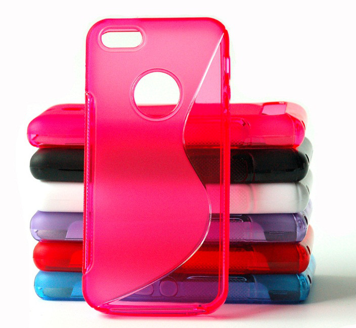 Чехол Iphone 5 / 5S / SE силикон TPU S-LINE розовый