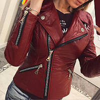 Куртка женская косуха бордовя ЕЕ/-635