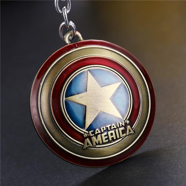 """Оригинальный брелок для ключей из металла """"Капитан Америка""""!"""