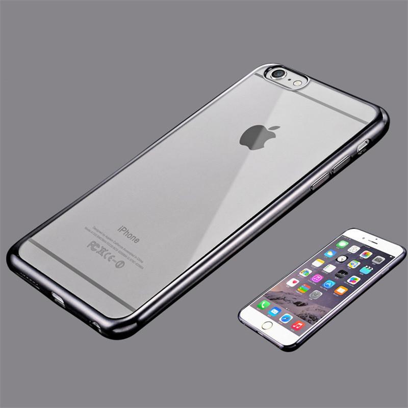 Чехол Iphone 6 / 6S силикон TPU темно-серый