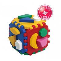 """Куб """"Розумний малюк"""" 0458, детская развивающая игра, игрушка, кубик, сортер"""