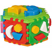 """Куб """"Розумний малюк"""" Гіппо 2445, детская развивающая игрушка, игра, кубик, сортер"""