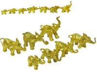 Статуэтка Семь слоников, золоченые