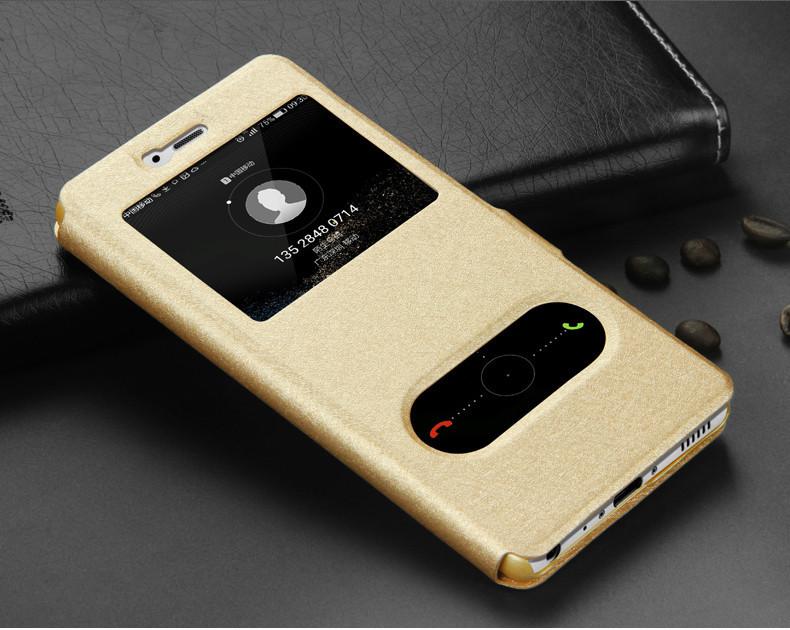 Чехол Iphone 6+ plus / 6s+ plus книжка с двойным окном золотой