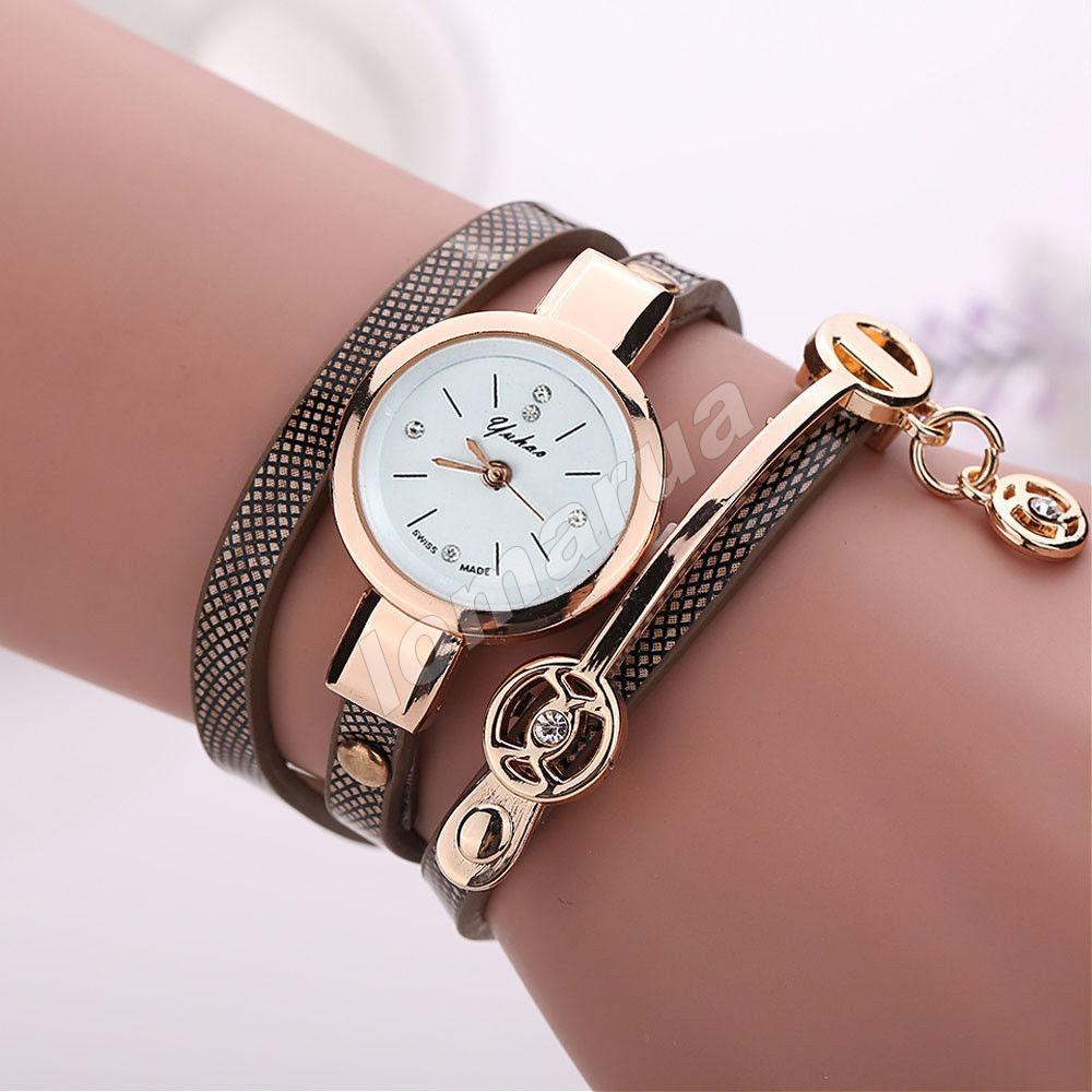 Женские часы-браслет со стразами Brown