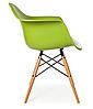 Кресло офисное пластиковое, кресло для ожидания, кресло садовое (Тауэр Вуд зеленый), фото 3