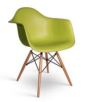 Кресло офисное пластиковое, кресло для ожидания, кресло садовое (Тауэр Вуд зеленый)