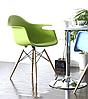 Кресло офисное пластиковое, кресло для ожидания, кресло садовое (Тауэр Вуд зеленый), фото 4