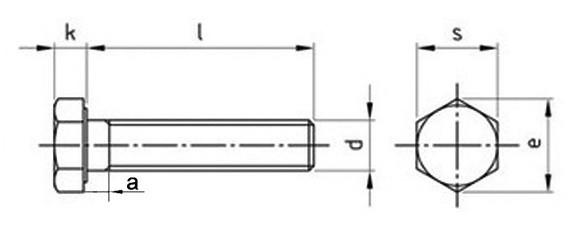 Болт DIN 933 купить