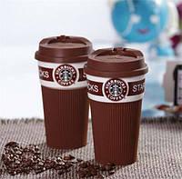 Чашка керамическая кружка Starbucks Brown, фото 1