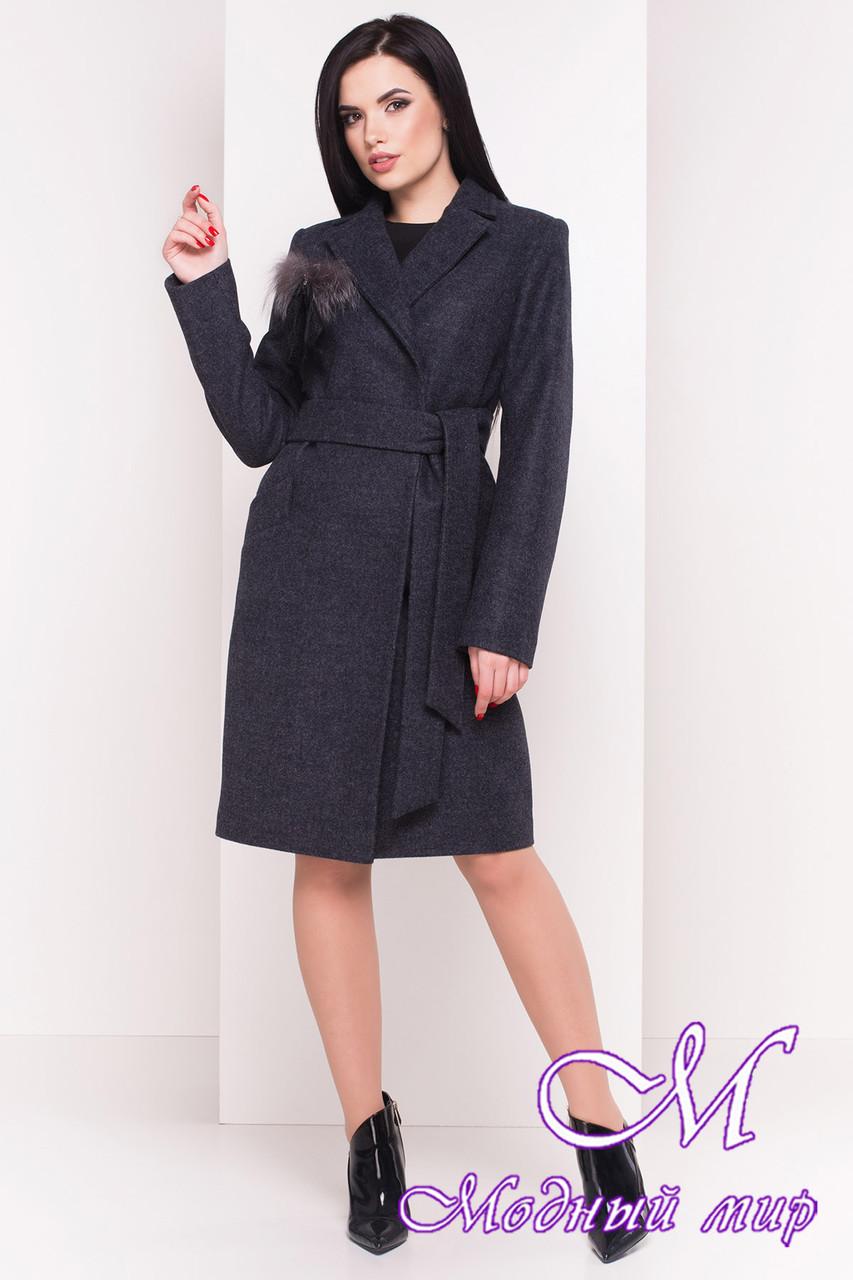Женское весеннее пальто с поясом (р. S, M, L) арт. Монблан 4424 - 21456