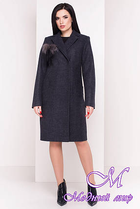 Женское весеннее пальто с поясом (р. S, M, L) арт. Монблан 4424 - 21456, фото 2