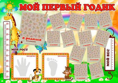 Карта первого года ребенка в тубусе Мой 1 год ProfiPlan 50179-1311, фото 2
