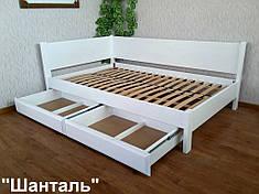 """Белая угловая кровать """"Шанталь"""""""