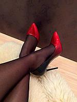 Туфли лодочки красно-черные лаковые код 2713, фото 1